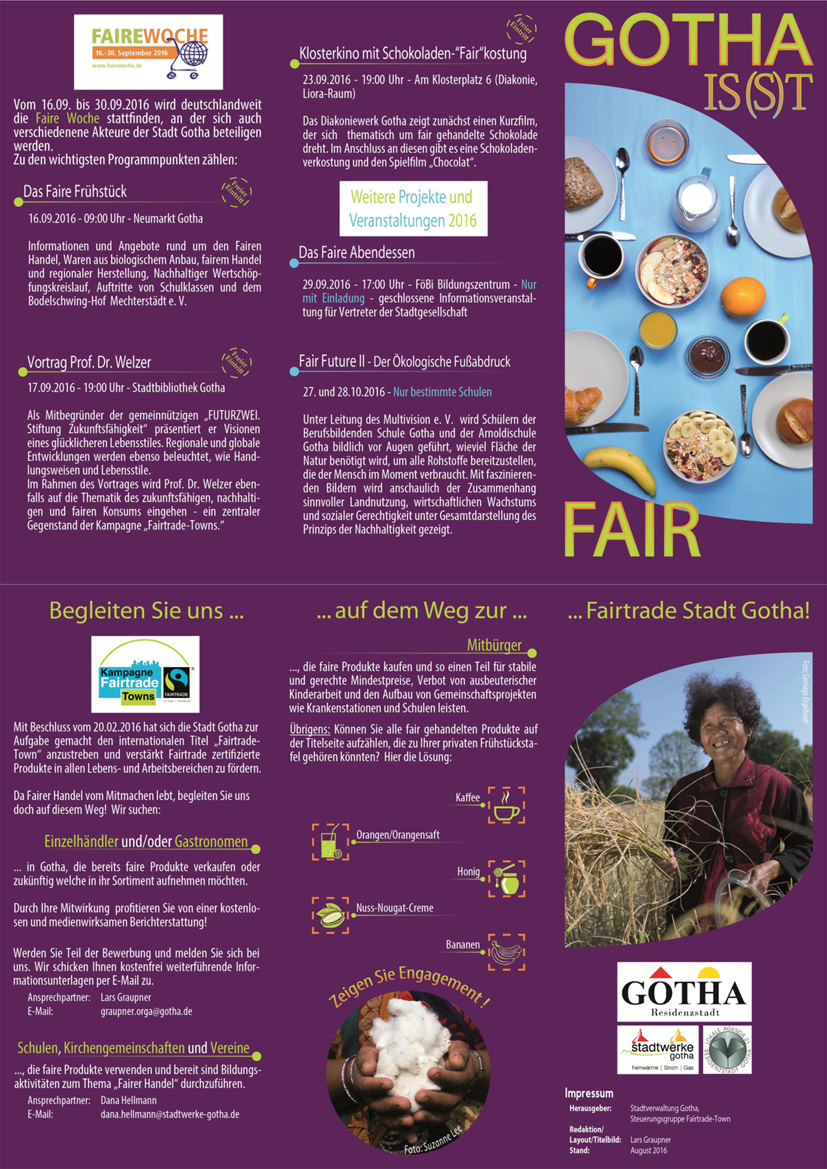 Flyer Fairtrade Town neu